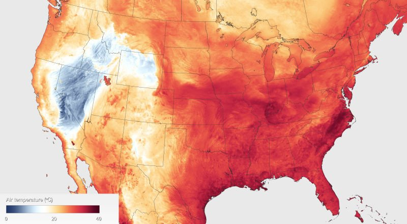 This Week's Abysmal Heat Wave, Visualized